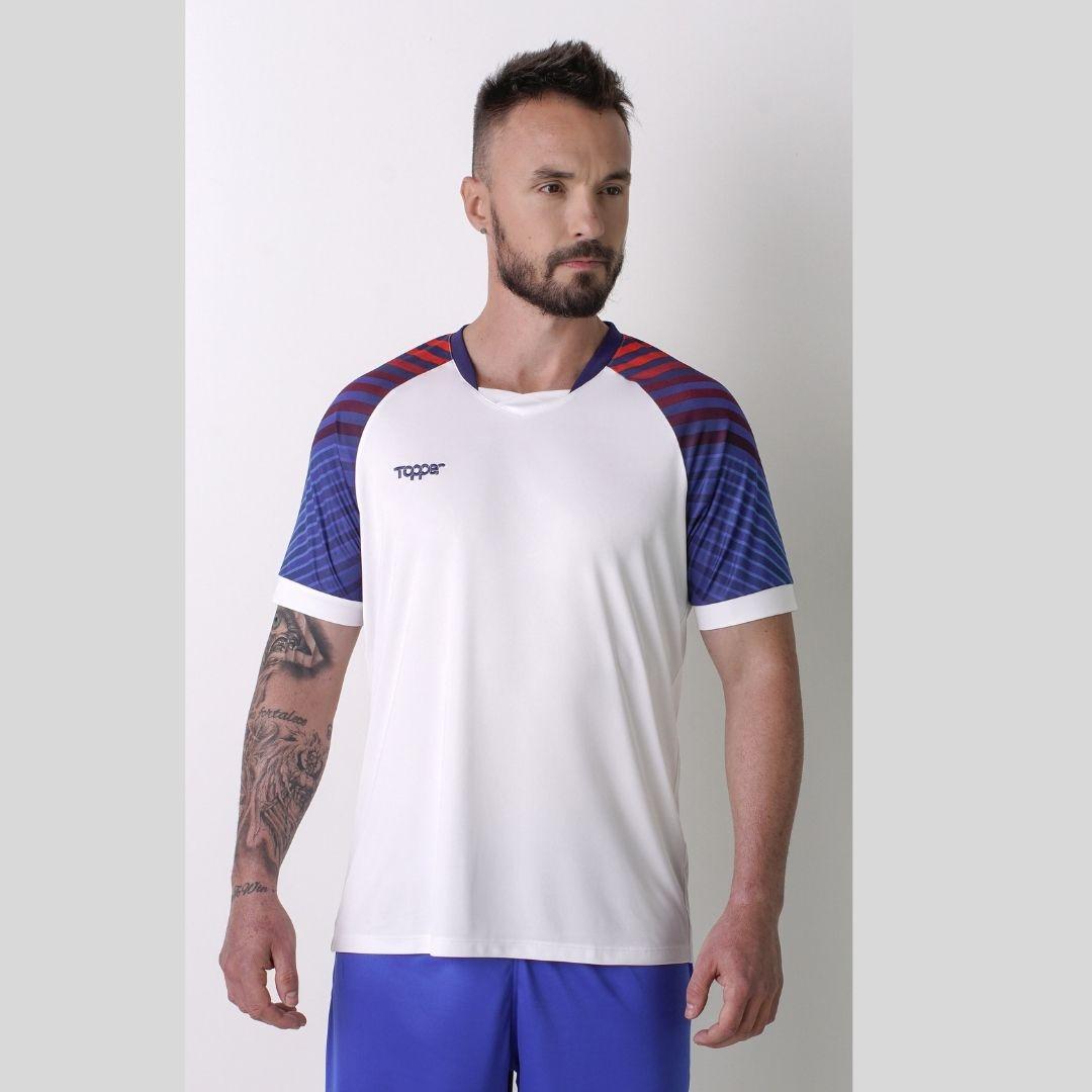 Camisa Topper Technic Masculina - Branco e Azul