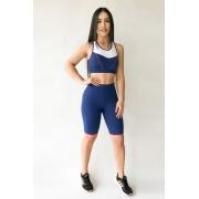 Bermuda Fitness Feminina Azul Royal