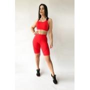 Bermuda Fitness Feminina Vermelha
