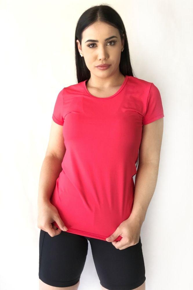 Blusa Feminina Dry Fit cor Tuti Fruti Modelo Básico