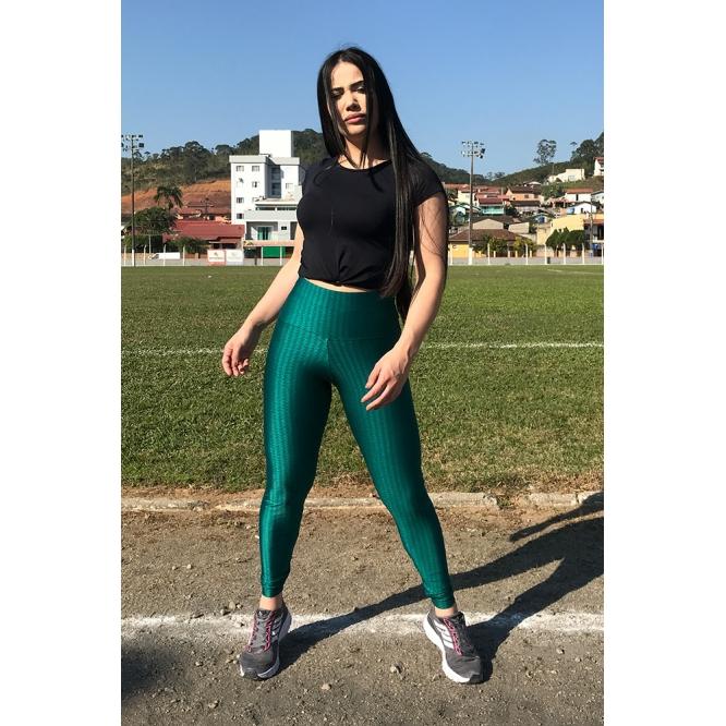 Calça Legging Fitness 3D Verde