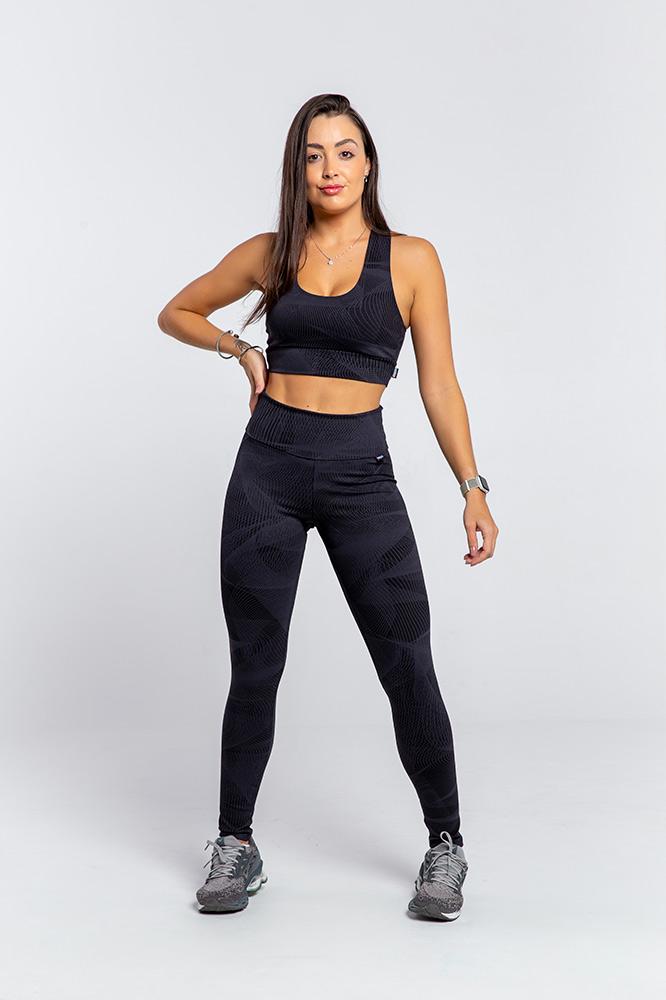 Calça Legging fitness Estampa Matrix Fio Emana