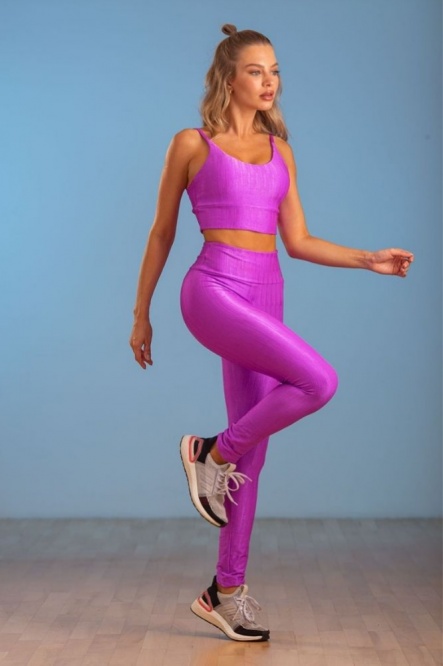Legging Fitness Feminina cor Fuscia