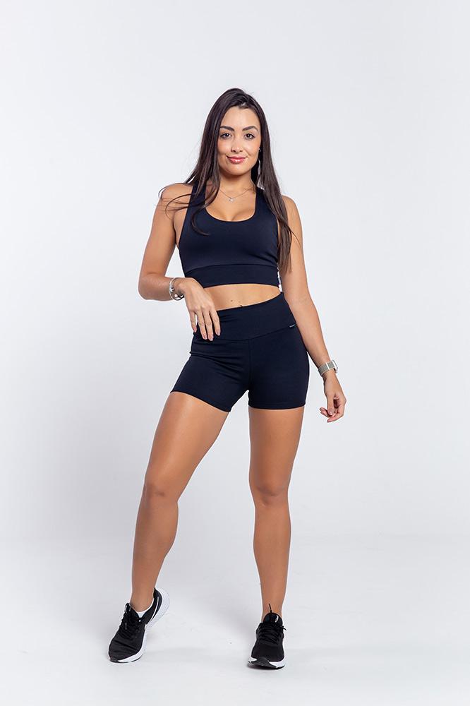 Shorts Fitness Fio Emana Preto