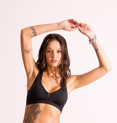 Top Fitness Nadador Básico Preto