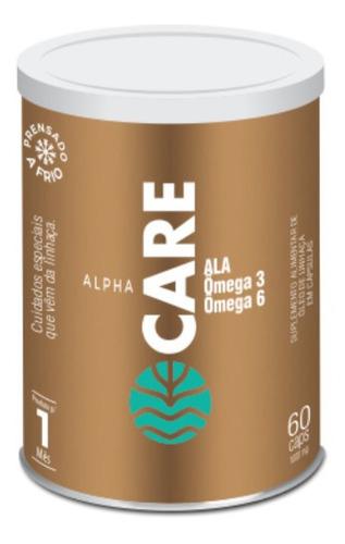 Alpha Care - Óleo De Linhaça Em Cápsulas 60 Cáps