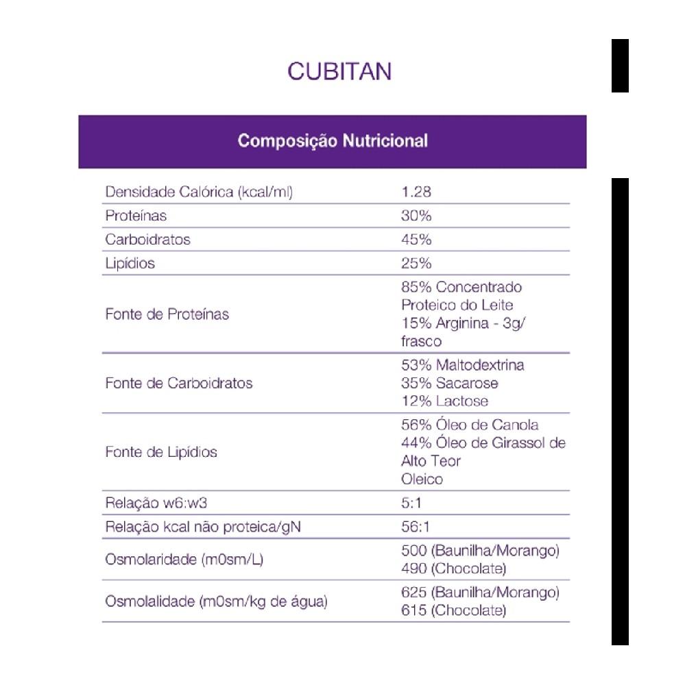 KIT CUBITAN BAUNILHA 200ML - 12 UNID