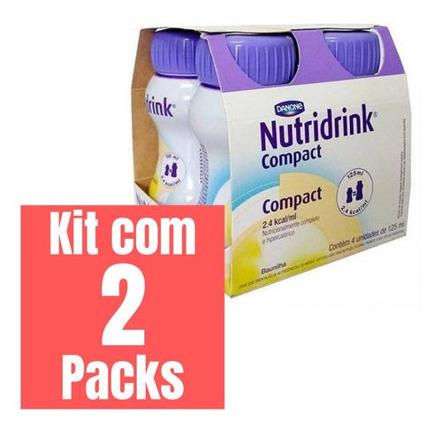KIT NUTRIDRINK COMPACT BAUNILHA 125ML - 2 PACKS 4 UNID