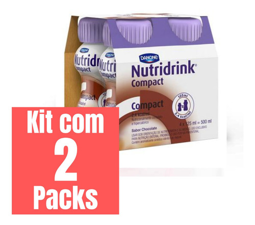 KIT NUTRIDRINK COMPACT CHOCOLATE - 2 PACKS 4 UNID