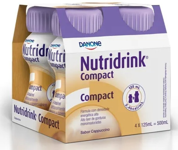 NUTRIDRINK COMPACT CAPUCCINO 125ml PACK 4 UND  DANONE