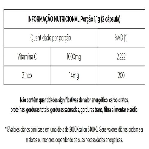 SUPRA VITAMINA C+ ZINCO 60 CAPS.