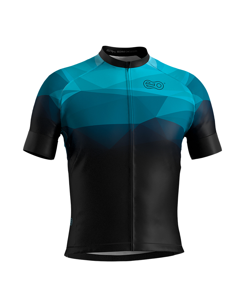 Camisa de Ciclismo Confort - Abstract Blue