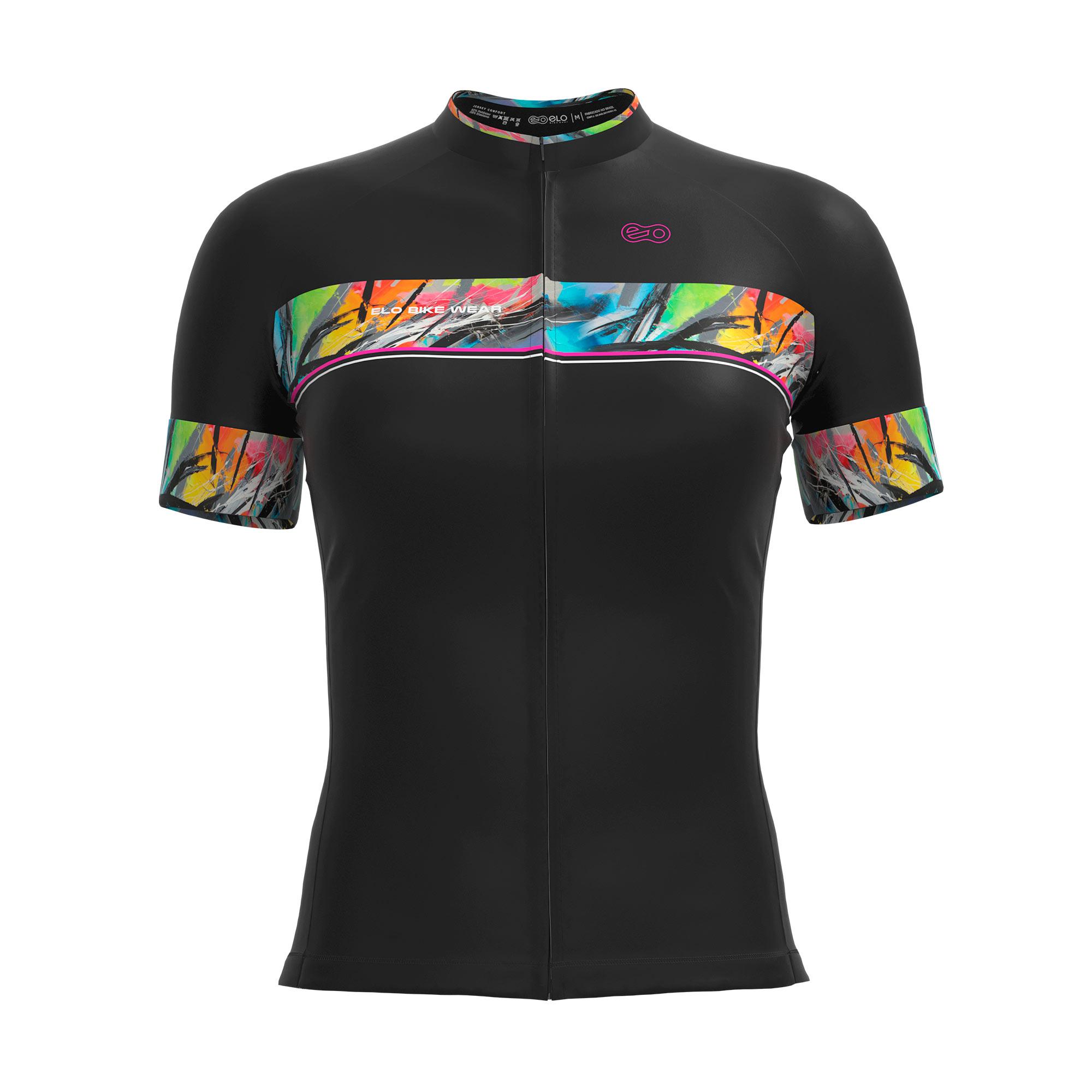Camisa de Ciclismo Confort FEM - Black Color