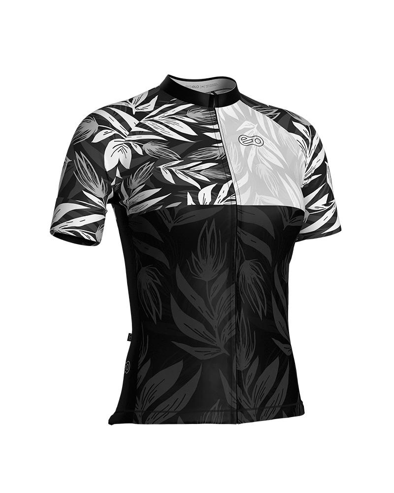 Camisa de Ciclismo Confort FEM - Black Flower