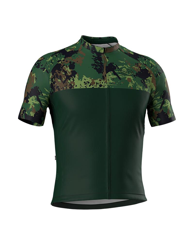 Camisa de Ciclismo Confort - Green Camufle