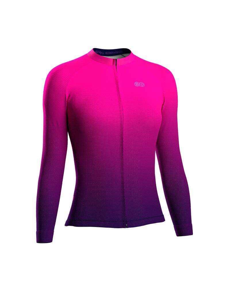 Camisa de Ciclismo Confort FEM ML - Purple