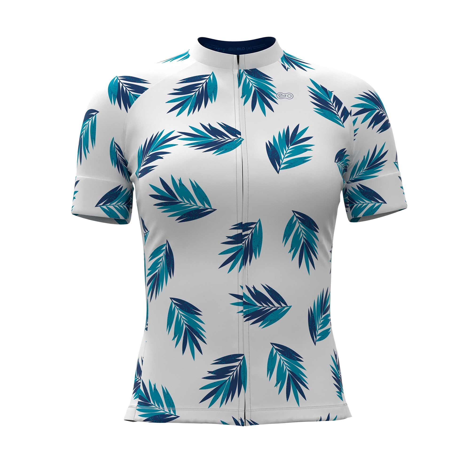 Camisa de Ciclismo Confort FEM - Tropical Blue
