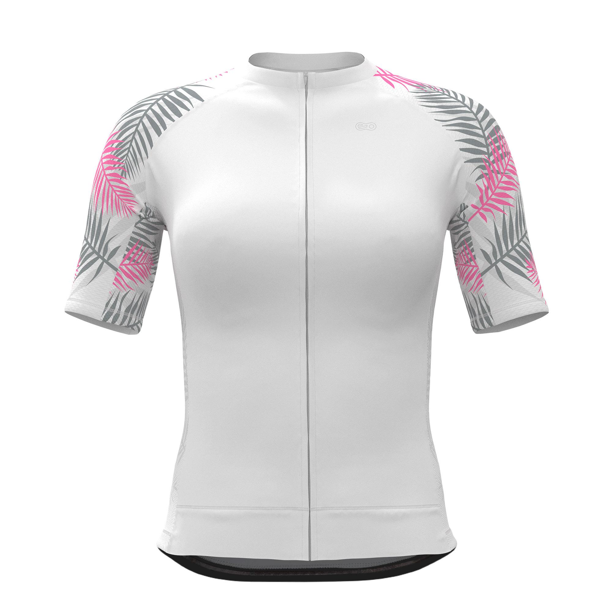Camisa de Ciclismo Expert FEM - Tropical White