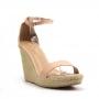 Anabela Sapato Da Corte Spadrille 2 Em 1