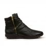 Bota Flat Sapato Da Corte Cano Curto Couro
