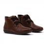 Bota Flat Sapato Da Corte Elástico Em X Couro