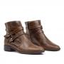 Bota Flat Sapato Da Corte Salto Baixo Metal