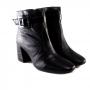 Bota Sapato Da Corte Cano  Médio  Salto  Bloco Alto