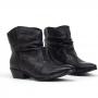Bota Sapato Da Corte Salto Baixíssimo Franzida
