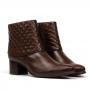 Bota Sapato Da Corte Salto Médio Matelassê