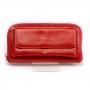 Carteira Sapato Da Corte Grande Bolso Externo Vermelha