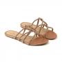 Chinelo Sapato Da Corte Cruzada