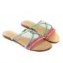 Chinelo Sapato Da Corte Cruzado