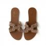 Chinelo Sapato Da Corte Miçangas