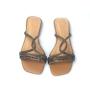 Chinelo Sapato Da Corte Strass