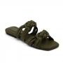 Chinelo Sapato Da Corte Trança Comfy