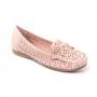 Mocassim Sapato Da Corte Vazado Laço