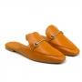 Mule Flat Sapato Da Corte Metal