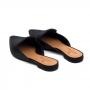Mule Sapato Da Corte Rasteiro Bico Fino Lantejoula