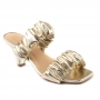 Open Mule Sapato Da Corte Bico Quadrado Comfy