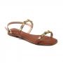 Rasteira Sapato Da Corte 2 Tiras Strass