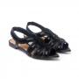 Rasteira Sapato Da Corte Bico Folha Bordada
