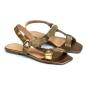 Rasteira Sapato Da Corte Bico Quadrado Velcro Strass
