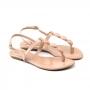 Rasteira Sapato Da Corte Fio Pedras