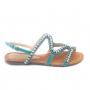 Rasteira Sapato Da Corte Pedras Transversal