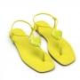 Sandália Flat Sapato Da Corte Bico Quadrado Coração