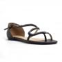 Sandália Flat Sapato Da Corte Cobra