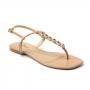 Sandália Flat Sapato Da Corte Fio Mini Flor