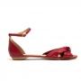 Sandália Flat Sapato Da Corte Nó
