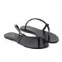 Sandália Flat Sapato Da Corte Nó Transversal