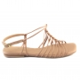 Sandália Flat Sapato Da Corte Nos Corrente